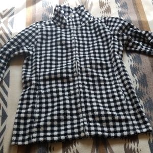 Warm checkered fleece with pockets